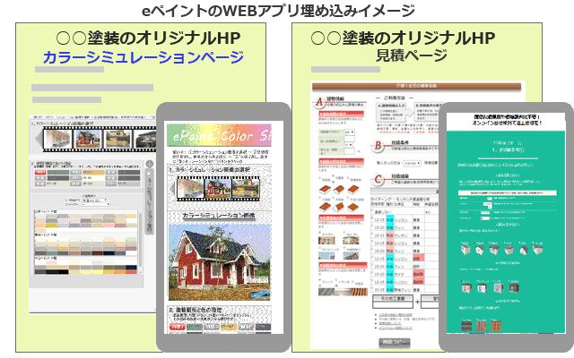 塗装店Webアプリ「eペイント」 戸建て住宅Web見積 工事受注支援サービス